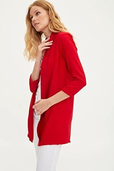 DeFacto Şal Yaka Blazer Ceket Kırmızı
